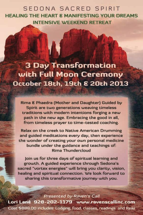 Sedona Sacred Spirit – October 18-20, 2013   Raven's Call