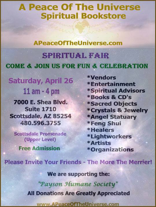 A Peace of the Universe Spiritual Fair - April 26, 2014