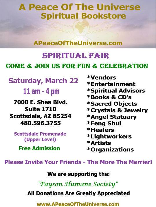 A Peace of the Universe Spiritual Fair - March 22, 2014