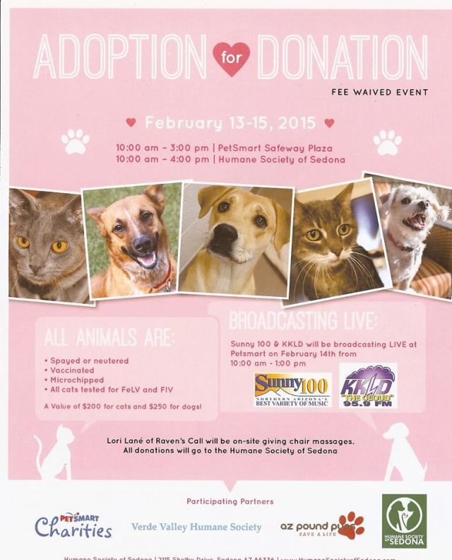 Adoption for Donation - February 13-15, 2015