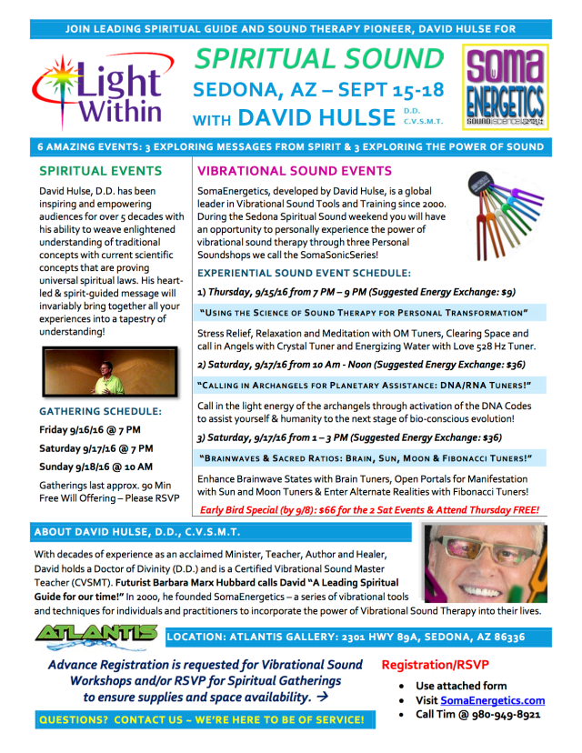 Sedona AZ Spiritual Sound David Hulse September 15-18