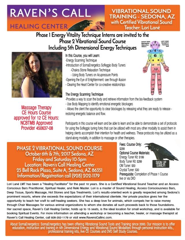 Phase 2 Vibrational Training October 67 2017 Ravens Call