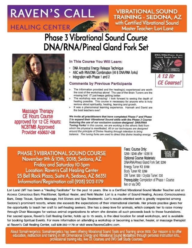 Phase 3 Vibrational Training November 910 2018 Ravens Call