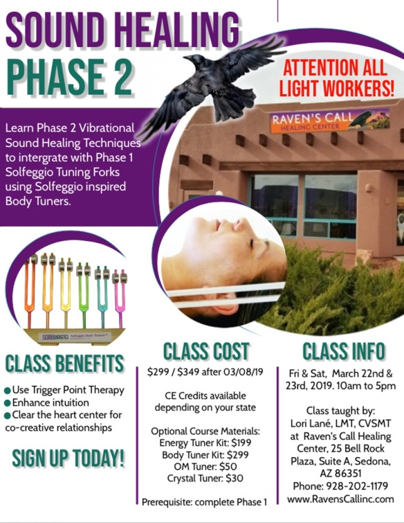 Phase 2 Vibrational Training – March 22–23, 2019 | Raven's